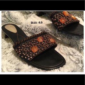 Cute Beaded Silicone Heel Comfort Sandals